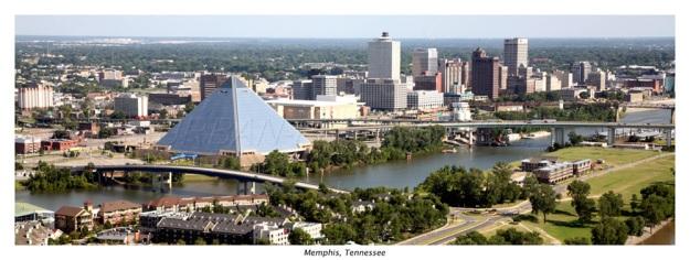 Memphis Skyline Panoramic